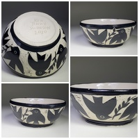 birds and branches bowl - stoneware