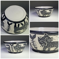cat bowl - stoneware