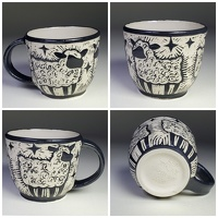 sheep Mug - stoneware