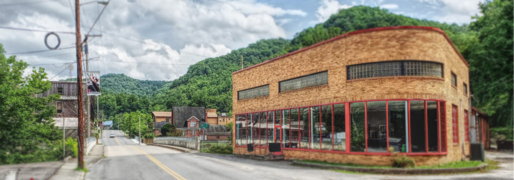 exterior photo of the appalachian media institute in whitesburg kentucky