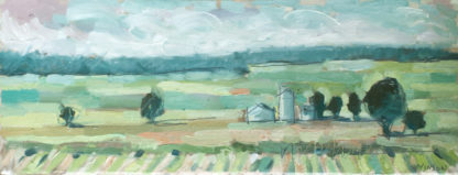 plein air painting of the flatlands near piggot arkansas
