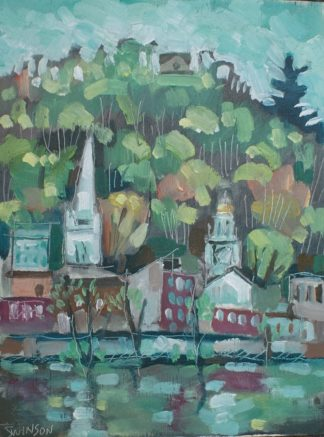 plein air painting of maysville kentucky by artist ken swinson