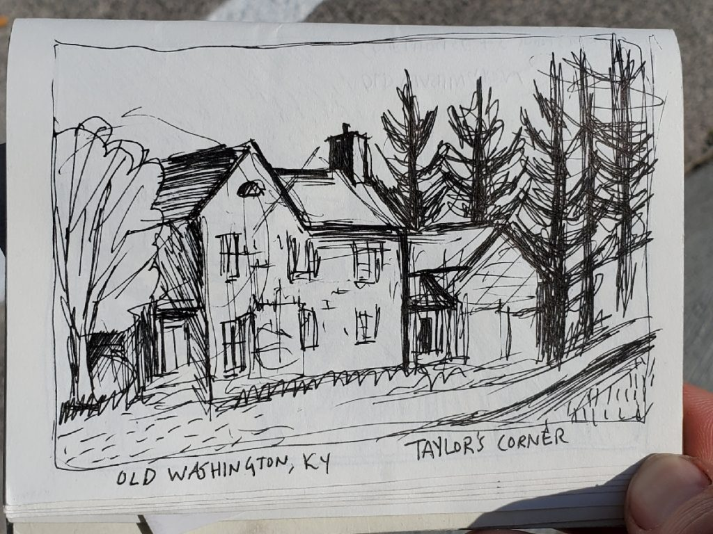Sketch of Taylor's Corner in Old Washington, KY