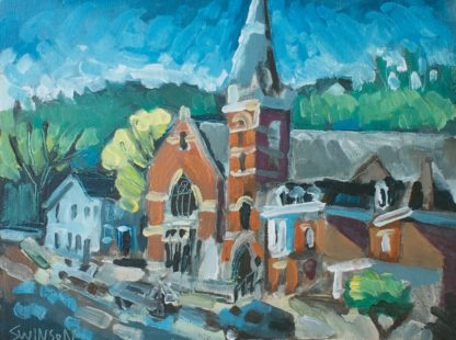 plein air painting of maysville kentucky by artist ken swinson