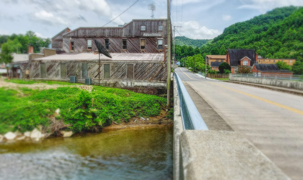 photo of appalshop building beside creek in whitesburg kentucky