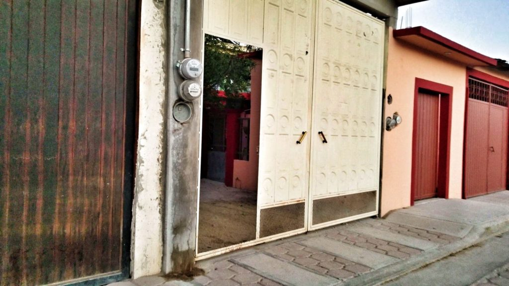 large doors in a mexican village