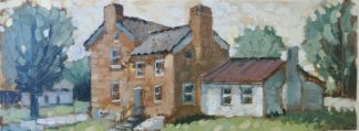 plein air paining by ken swinson of grant's home in georgetown ohio