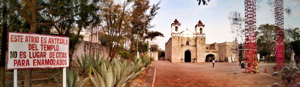 panoramic photo of san pablo huitzo, oaxaca mexico