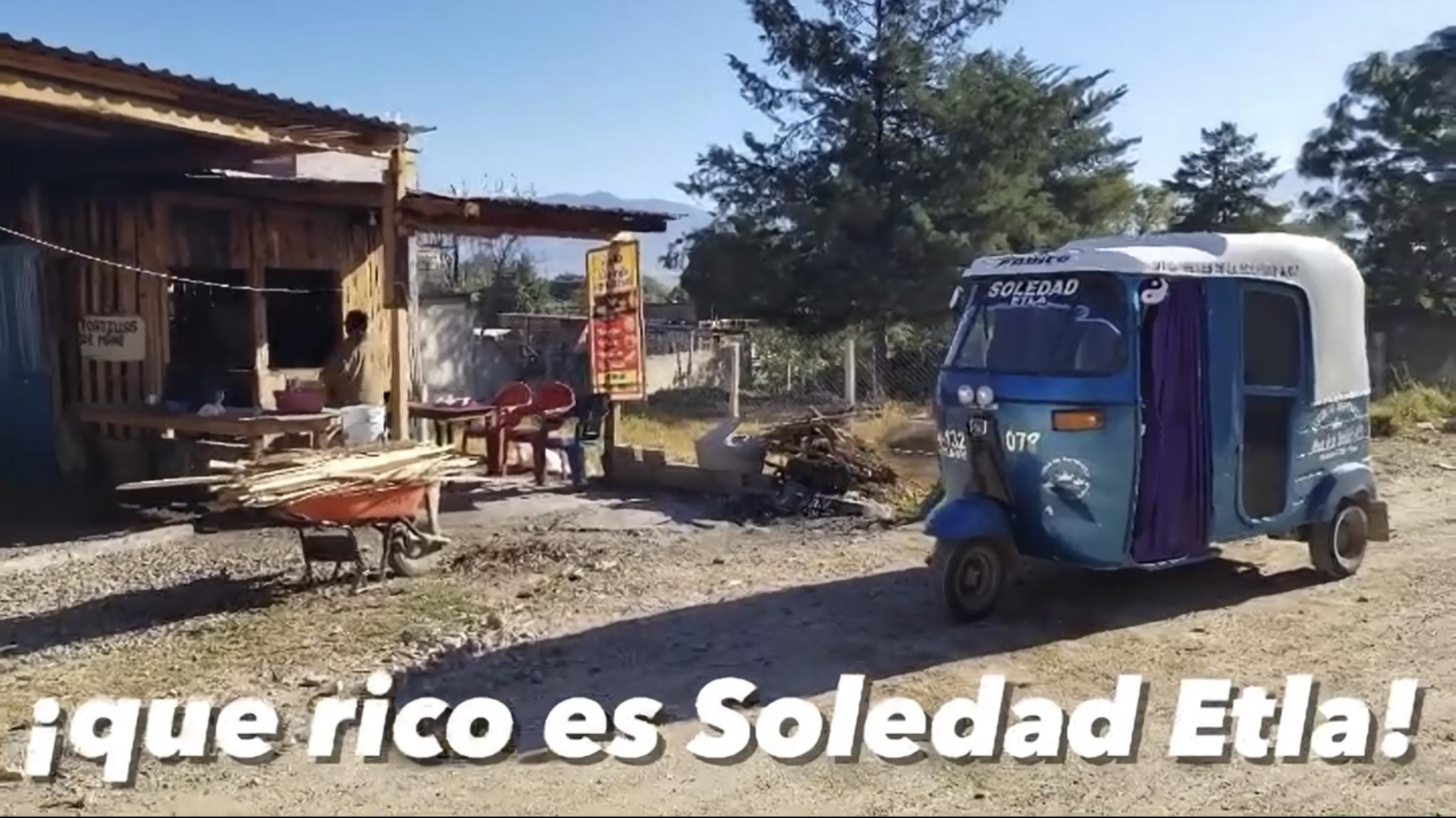 rustic kitchen and moto taxi in soledad etla oaxaca mexico