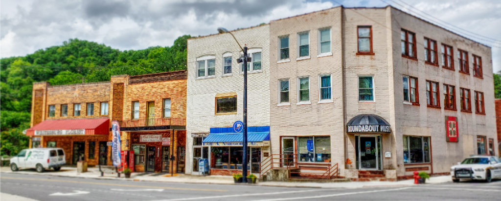 panoramic photo of whitesburg kentucky