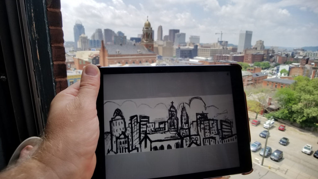 ipad sketch of cincinnati view ohio