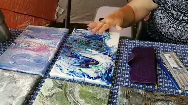 acrylic pour painting in old washington Kentucky