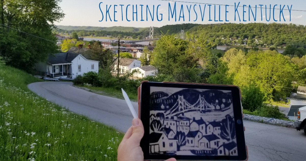 overlook view of downtown maysville kentucky from bank street