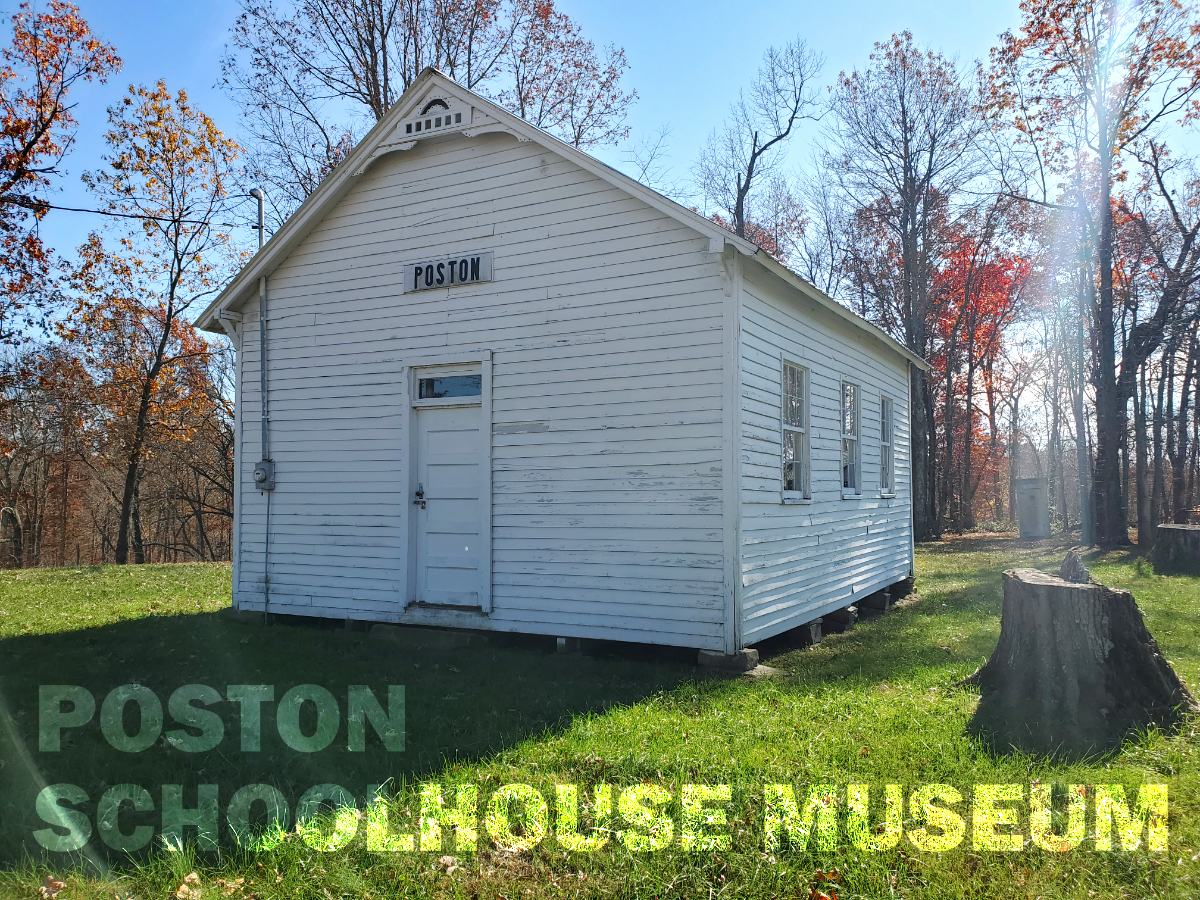 exterior of the poston school house museum in fleming county kentucky