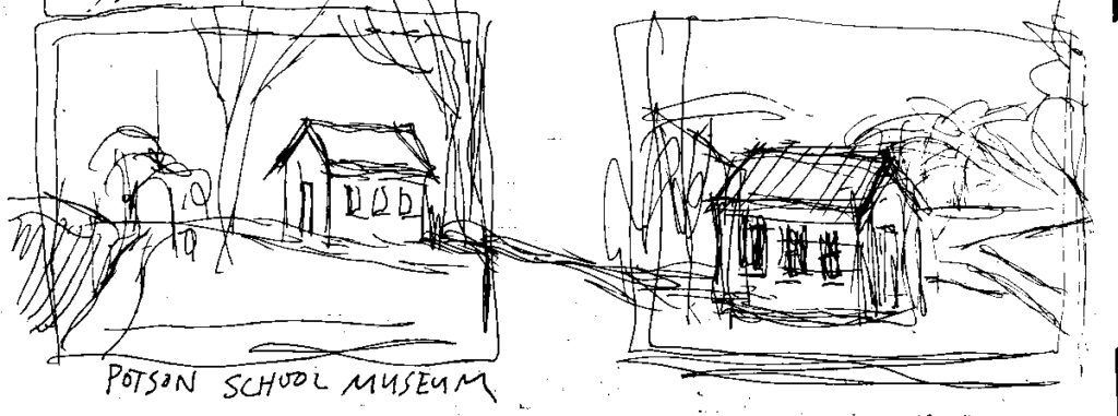 sketches of the poston school museum in fleming county kentucky