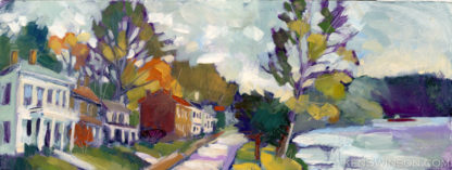 Plein Air Painting of Front street along the ohio river in ripley ohio