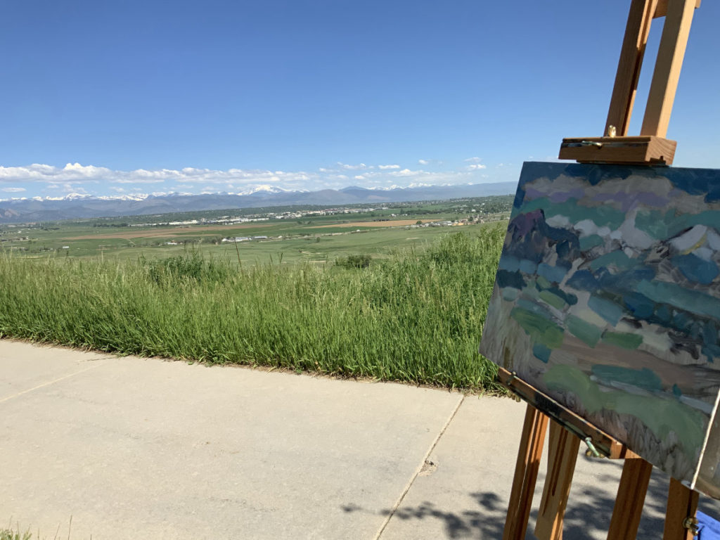 first colors oil painting bloomfield colorado overlook